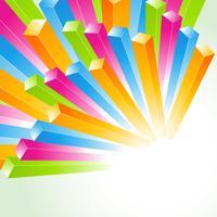 fundo de linhas coloridas de vetor