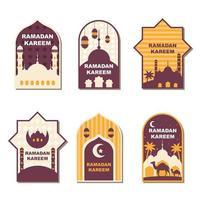 conjunto de etiquetas ramadan kareem vetor