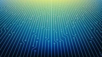 microchip de circuito moderno em fundo de tecnologia vetor
