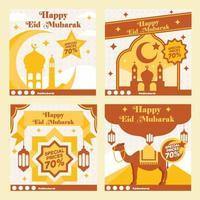 modelo de mídia social eid mubarak vetor