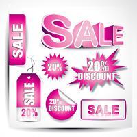 elementos de venda de vetor
