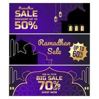 banner de venda ramadhan vetor