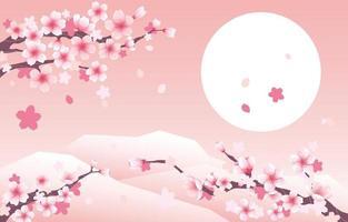 fundo flor de cerejeira vetor