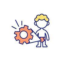 ícone de cor rgb de saúde vetor