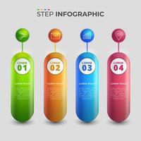 infográfico 3d de negócios vetor