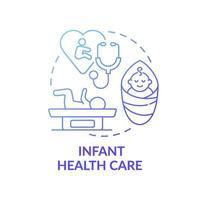 ícone de conceito gradiente azul de cuidados de saúde infantil vetor