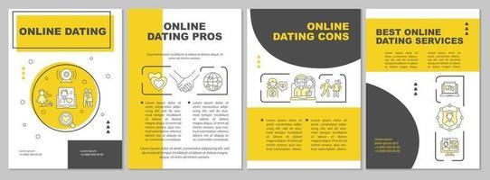 modelo de folheto namoro online vetor