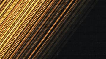 fundo de tecnologia de velocidade dourada vetor