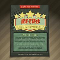 design de brochura de festa do clube vetor