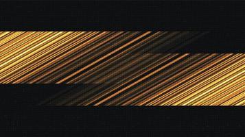 fundo de tecnologia dourada de alta velocidade vetor