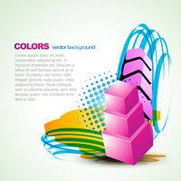 fundo artístico colorido vector
