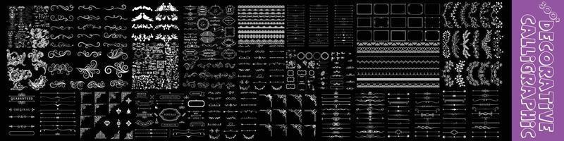 conjunto de vetores de elementos decorativos