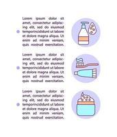 contaminação de ícones de linha de conceito de cosméticos com texto vetor