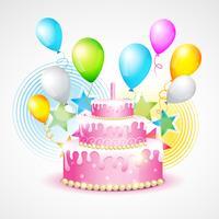 fundo colorido de aniversário vetor