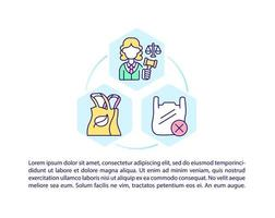 seleção de ícones de linha de conceito de produtos ecológicos com texto vetor