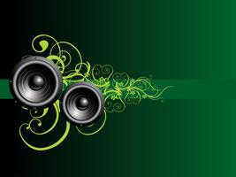 alto-falante de música vectoe vetor