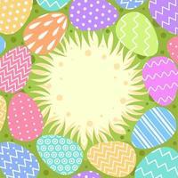 projeto de fundo liso colorido de ovos de páscoa vetor