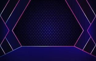 fundo de palco de néon simples vetor