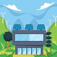 a solução para a poluição é a tecnologia verde vetor