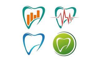 dente dental saúde negócios logotipo modelo ilustração vetorial elemento de ícone vetor