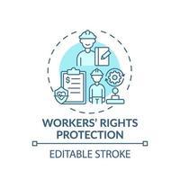 ícone do conceito de proteção dos direitos dos trabalhadores