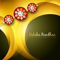 fundo de vetor rakhi brilhante