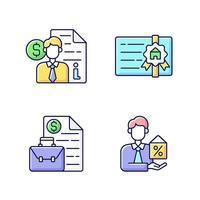 conjunto de ícones de cores rgb do corretor vetor