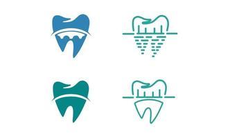vetor de design de conceito de logotipo dental