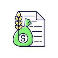 ícone de cor rgb do corretor de commodities vetor