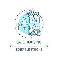 ícone do conceito de habitação segura
