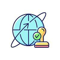 ícone de cor rgb de corretor personalizado vetor