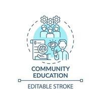 ícone do conceito de educação comunitária
