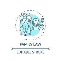 ícone do conceito de direito da família