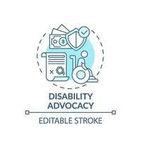 ícone do conceito de defesa da deficiência