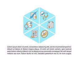 ícones de linha conceito médico de família com texto vetor