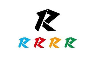 ilustração em vetor design de logotipo criativo inicial r