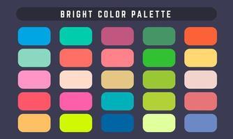 paleta de cores brilhantes vetor