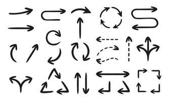 coleção de flechas desenhadas à mão vetor