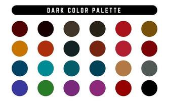 conjunto de paletas de cores escuras vetor