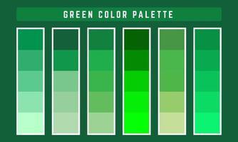 paleta de cores vetoriais verdes vetor