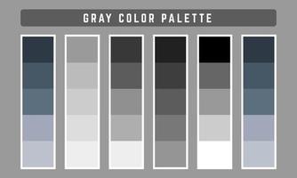 paleta de cores vetoriais cinza vetor