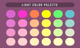 paleta de cores de vetor de luz