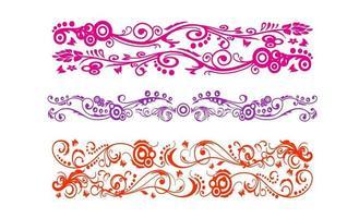 vetor de design de linha de arte de ornamento vintage batik