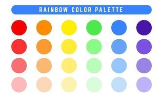 conjunto de paleta de cores de vetores de arco-íris