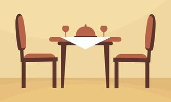 mesa restaurent com duas cadeiras vetor
