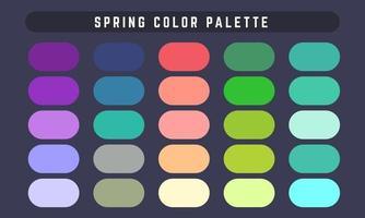 paleta de cores do vetor da primavera