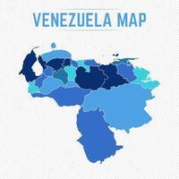 mapa detalhado da venezuela com estados vetor