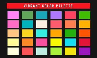 paleta de cores vibrantes de vetor