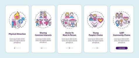 encontrar a tela da página do aplicativo móvel de integração do parceiro adequado com conceitos. vetor