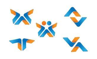 ilustração em vetor design inicial do logotipo av mínimo criativo